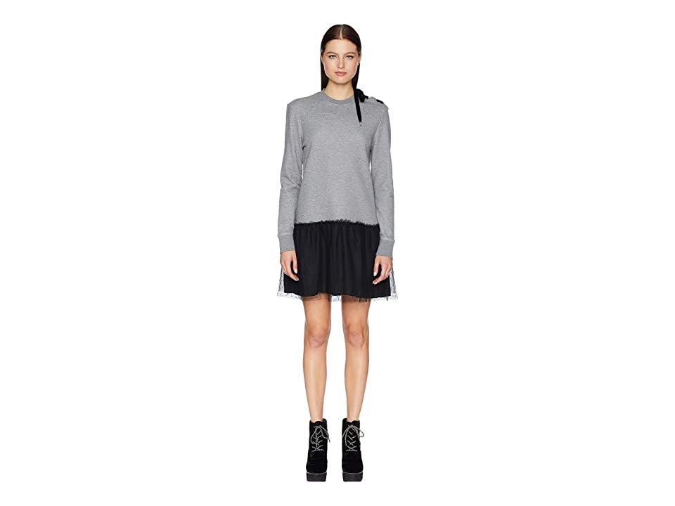 RED VALENTINO Oxford Dress (Grey/Black) Women