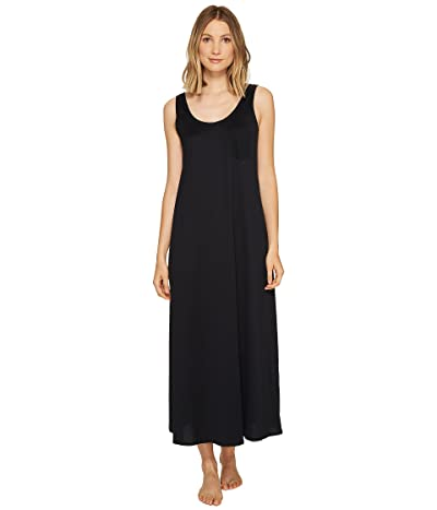 Hanro Cotton Deluxe Long Tank Nightgown (Black) Women