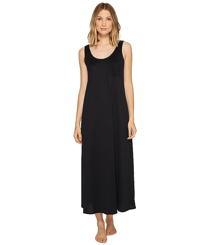 Hanro Cotton Deluxe Long Tank Nightgown (Black) Women