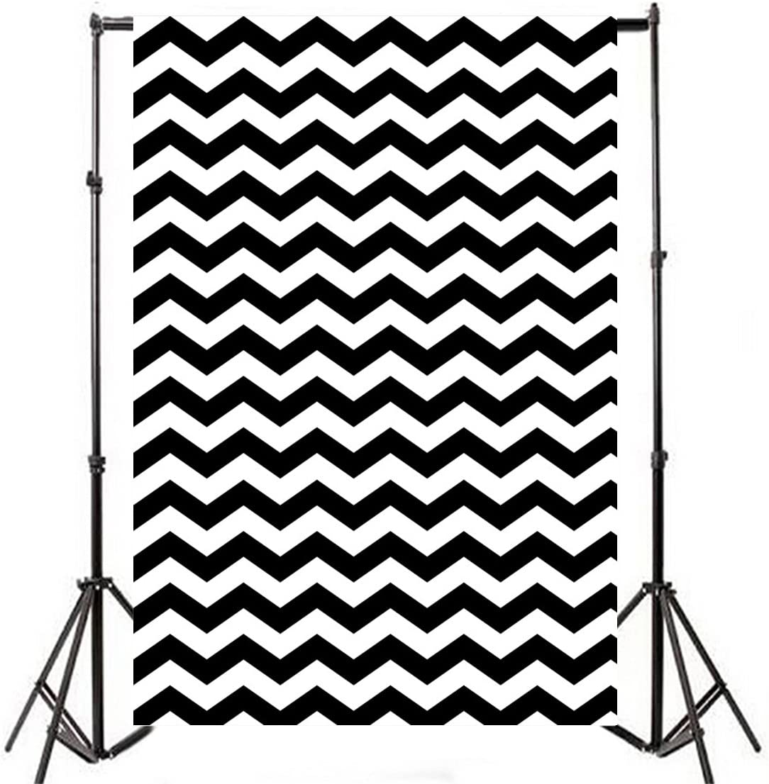 8x12 FT Chevron Vinyl Photography Background Backdrops,Hand Drawn Style Pattern with Zigzag Lines Horizontal Borders Geometric Background for Graduation Prom Dance Decor Photo Booth Studio Prop Banner