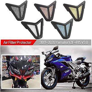 Fayedenicy Luftfilter Staubschutz für Yamaha YZF R15 YZFR15 YZF R15 V3.0 V3 2017 2018 2019 2020 Motorrad Staubdichter Staubschutz Ansaugschutz Schutzzubehör 17 20 (Rot)
