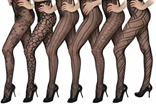 Women's 6-Pack Fishnet Lace Pantyhose Tights