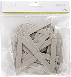 American Crafts 332387 Amelia 26 Piece Alpha Chipboard Letters
