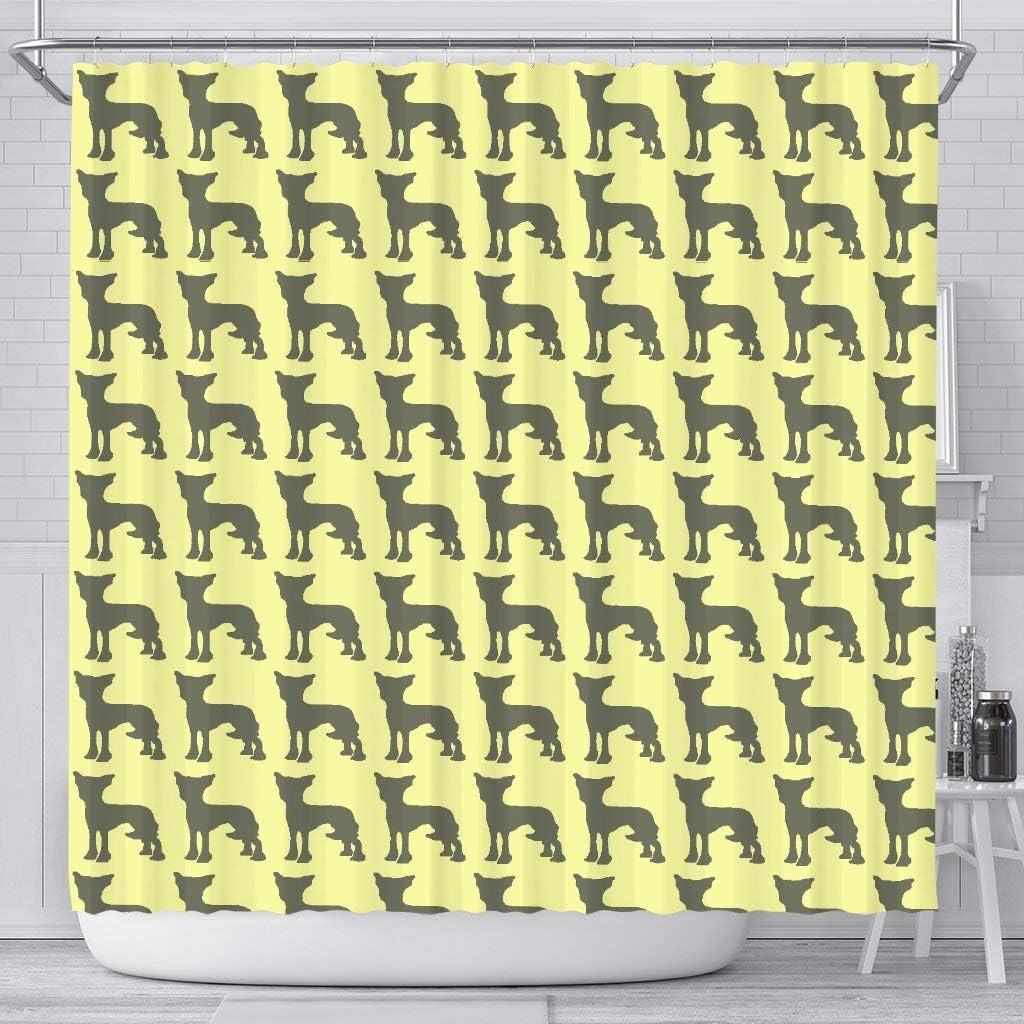 Chinese Crested Dog Pattern Curtains Shower Purchase Print Superlatite