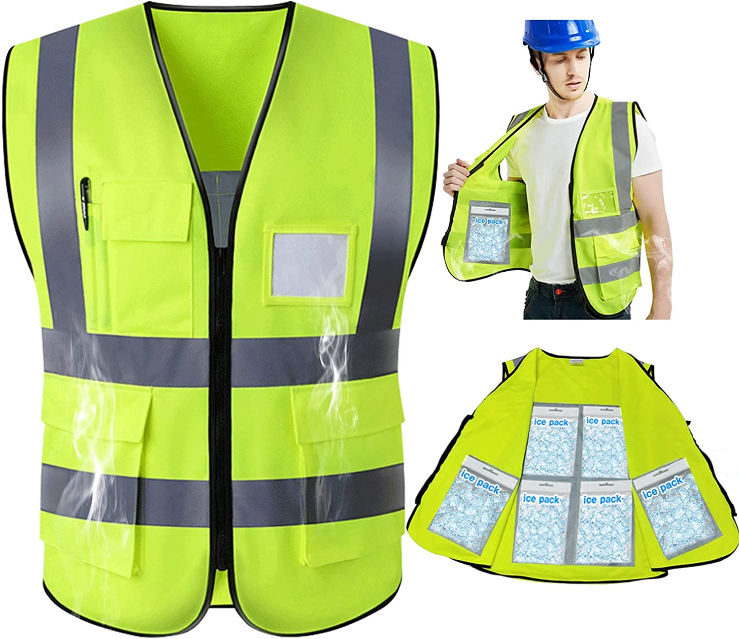 Safety famous Vest Reflective High Visibility Constructi Work New Orleans Mall