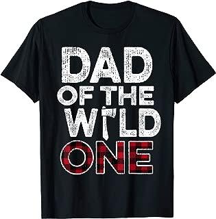 Mens Dad Of The Wild One Lumberjack First Birthday Baby Shower T-Shirt