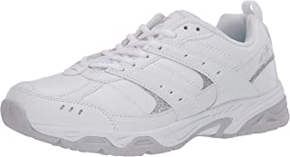 AVIA Women's Training Sneaker, White/Micro Chip/Petit Four/Silver,7 M US