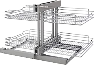 Rev-A-Shelf 18 in Chrome Blind Corner Organizer w/Soft-Close