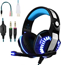 Best BlueFire Professional Stereo Gaming Headset for PS4, Xbox One Headphones with Mic and LED Lights for Playstation 4, Xbox One, PC (Blue) Review