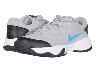 Nike Kids Court Jr. Lite 2 Tennis (Little Kid/Big Kid) (Light Smoke Grey/Blue Hero/Off Noir/White) Kid