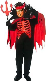 Carnaval-Set diable petit diable Mardi Gras Costume Scintillant Diable 3 pièces