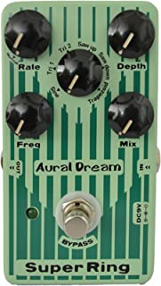 Aural Dream Super Ring Guitar Effects Pedal with 2 Ring modes and 6 waves simulating Tubular Bell,Chime and Bells sound,true bypass