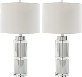 Ashley Furniture Signature Design - Makram Table Lamps - Modern Style - Clear/Chrome