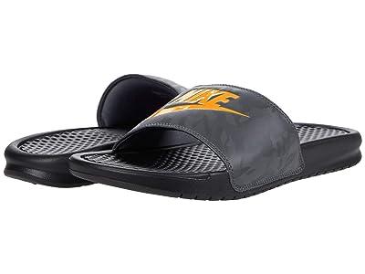 Nike Benassi JDI Slide (Black/Laser Orange/Iron Grey) Men