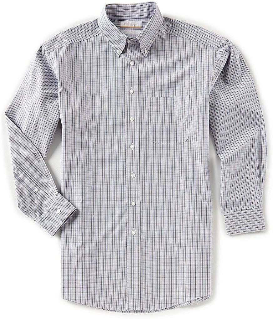 Gold Label Roundtree & Yorke Non-Iron Regular Big Tall Button Down Check Dress Shirt S85DG026 Multi Color