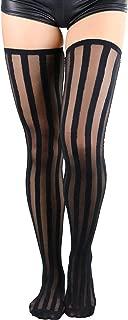 ToBeInStyle Women's Seamless Nylon Stocking With Vertical Stripe
