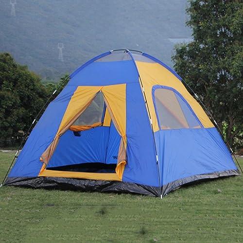QFFL zhangpeng Tente Double Tente Multi-Tente Camping 4-5-6 Personnes Tente Bleu 270  270  200cm Tente de cervelet