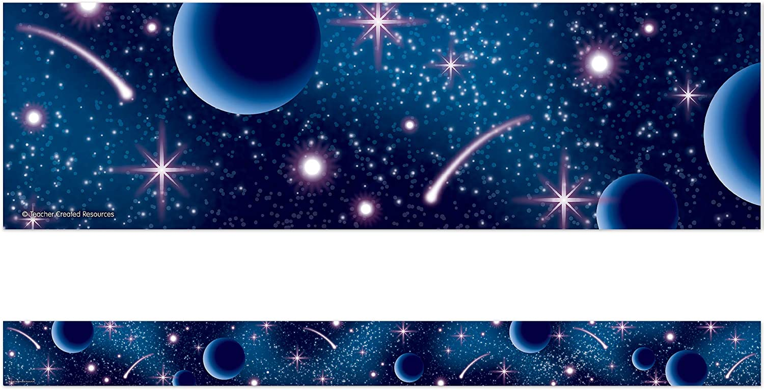 Teacher Created Resources Blue Stellar Straight Tri Space Special price for a Super sale period limited limited time Border