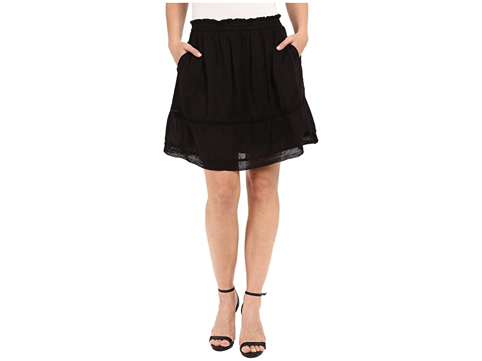 Dylan by True Grit Dream Cotton at Ease Pocket Skirt (Vintage Black) Women