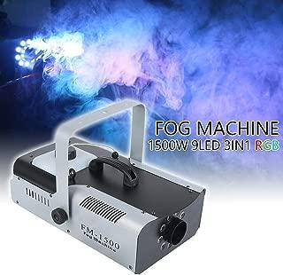 Tengchang 1500W RGB 3in1 Fog Machine 9 LED DJ Stage Decor Smoke Machine Fogger Remote