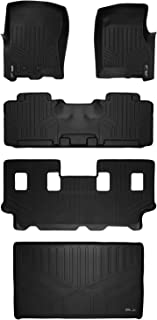 MAXLINER Floor Mats and Cargo Liner Behind 3rd Row Set Black for 2011-2017 Expedition EL/Navigator L with 2nd Row Bench Seat Or Console