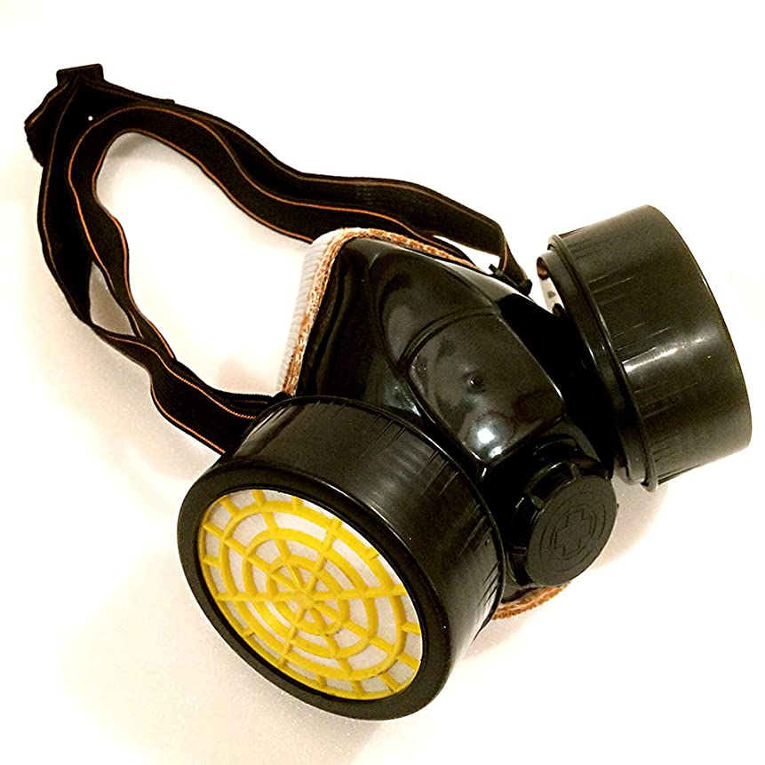 重力静脈類人猿speccss マスク コスプレ 過激 特殊 部隊 サバゲー 防毒 ガス マスク (イエロー/ブラック)