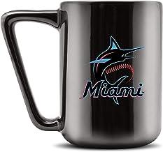 Duck House MLB MIAMI MARLINS Ceramic Coffee Mug - Metallic Black, 16oz