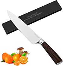 Chef Knife Pro Kitchen Knife 8 Inch, Japanese High Carbon Stainless Steel Knife with Sharp Edge and Comfortable Pakkawood Handle, for Cutting, Chopping, Dicing and Slicing