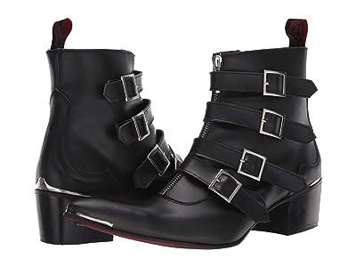 Jeffery-West Four Strap Punk Boot Sylvian (Black) Men