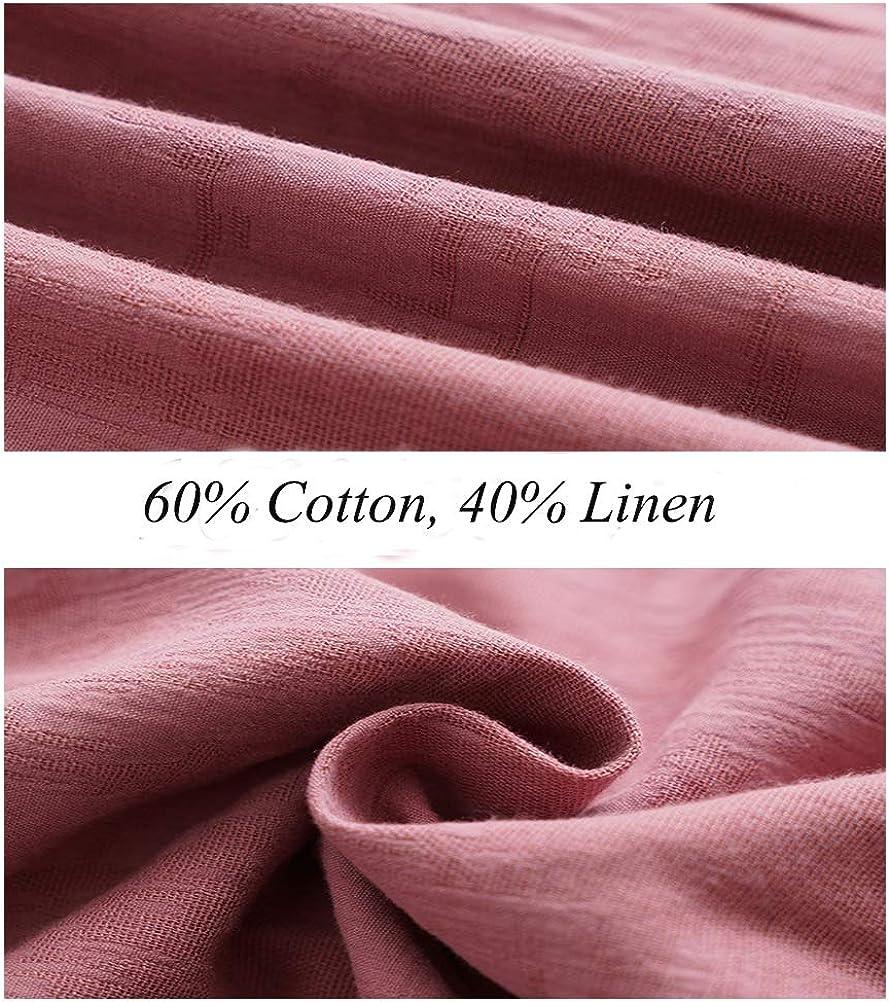 Minibee Women's Lightweight Blouse Outwear Jacket Jacquard Cotton Shirt Tops