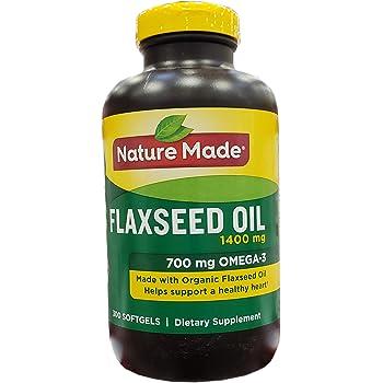Amazon Com Nature Made Organic Flaxseed Oil 1 400 Mg Omega 3 6