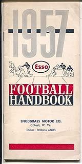1957 Football Handbook-Esso-NCAA-NFL-schedules-stats-etc-VG/FN