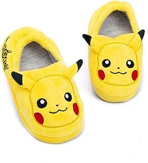 دمپایی Pokemon Pikachu برای پسران و دختران شخصیت های سه بعدی کودکان کفش زرد