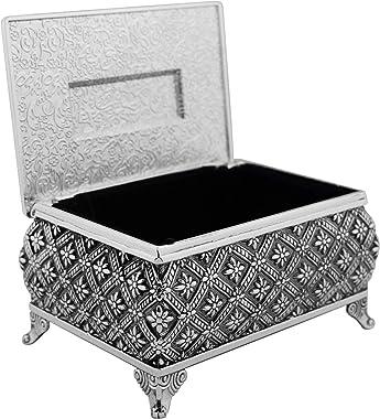 Las Arras Matrimoniales   Wedding Tokens   Unity Coins   Beautiful Silver-Tone Decorative Box   Traditional Spanish Catholic