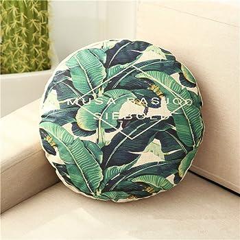 style 1 mf M /& F 45/cm rond Tropical Plante circulaire Impression Canap/é Housse de coussin de si/ège de voiture Taie doreiller