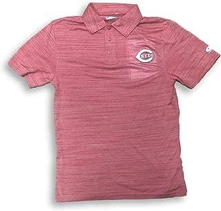 True Fans Cincinnati Reds Dri Fit Cool Base 3 Button Adult Men's Polo Shirt
