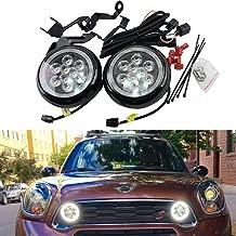 Mini Led Rally DRL Light - NSLUMO 18W High Power DC12V Canbus LED DRL Daytime Running Light Halo Fog Lamp Kit For Mini Cooper all series R55 R56 R58 R60 Rally Drving Lamp