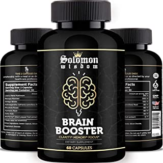 Solomon Wisdom Brain Booster – Nootropic Dietary Supplement for Memory Boost – 60 All-Natural Capsules to Enhance Focus & ...