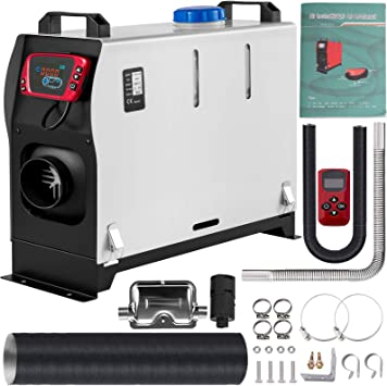 VEVOR Diesel Air Heater All In one, One Air Outlet, 8KW Diesel Heater 12V, Fast Heating, Diesel Parking Heater with Red LCD Switch, Remote Control For Car, RV Truck, Boat, Campervans and Caravans: image