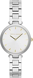 Rebecca Minkoff Women's Quartz Watch with Stainless Steel Strap, Silver, 13 (Model: 2200276)