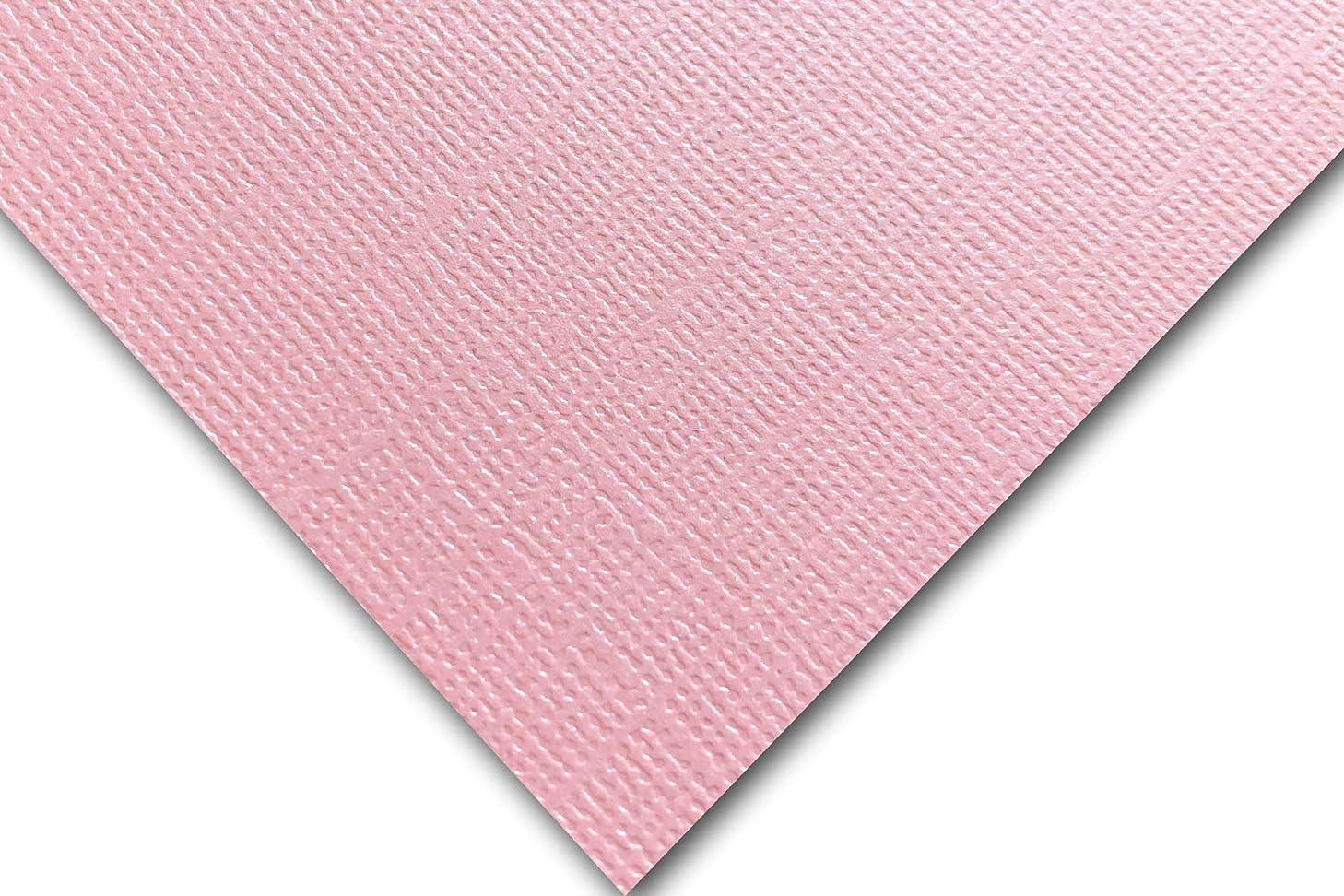 Premium Pearlized Metallic Textured Pink Taffeta Card Stock 20 Sheets - Matches Martha Stewart Pink Taffetta - Great for Scrapbooking, Crafts, Flat Cards, DIY Projects, Etc. (12 x 12)