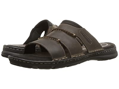 Rockport Darwyn Slide (Brown II Leather) Men