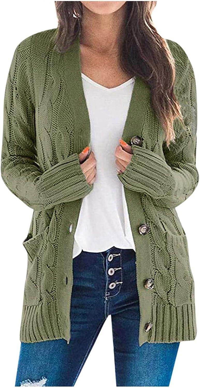 Sweaters for Women Plus Size Fashion Loose Lightweight Coat Open Drape Long Sleeve Casual Outwear with Pocket
