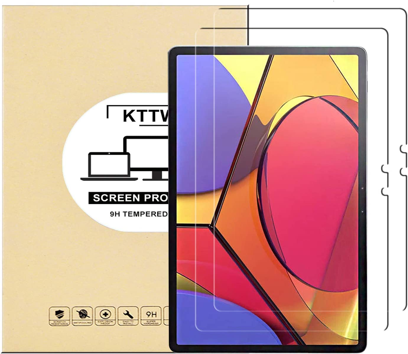 KTTWO (2 PACK) Lenovo Tab P11 Pro Screen Protector Glass, 9H Hardness Tempered Glass Anti-Scratch Bubble-Free Screen Protector for Lenovo Tab P11 Pro 11.5 Inch Tablet
