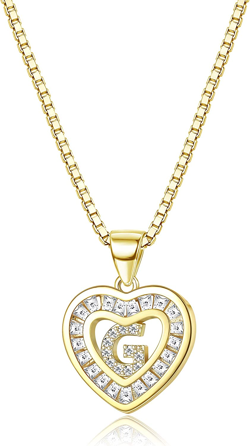 Ranking TOP8 Jewenova Tiny Heart Initial Necklace for Gold Plated 18K Women Animer and price revision A