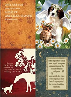Tree-Free Greetings Four Legged Friends Pet Sympathy Card Assortment, 5 x 7 Inches, 8 Cards and Envelopes per Set (GA31529)