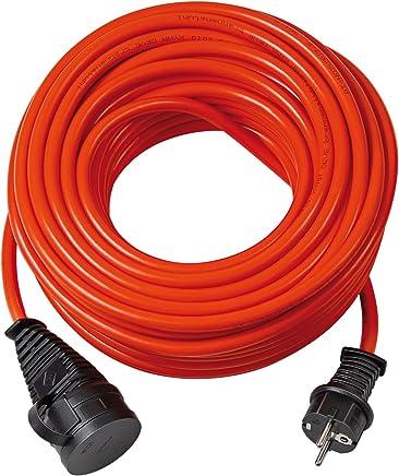 Brennenstuhl Bremaxx Verlängerungskabel (20m Kabel, für den kurzfristigen Einsatz im Außenbereich IP44, einsetzbar bis -35°C, öl- und UV-beständig) rot