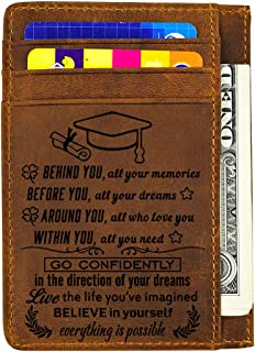 Engraved Wallet Inserts Card Personalized Love Note Gifts for Dad Son Husband
