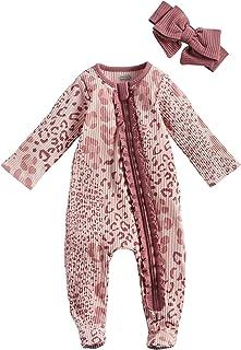 Baby Girls' Mauve Leopard Sleeper and Headband