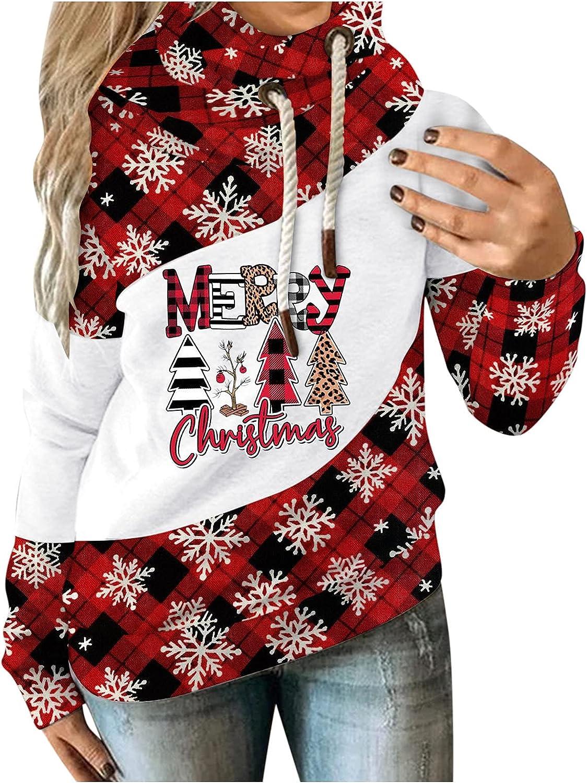 Financial sales sale Womens Christmas Plaid Print Sweatshirt Hoodies Cute 35% OFF Reindeer Sn